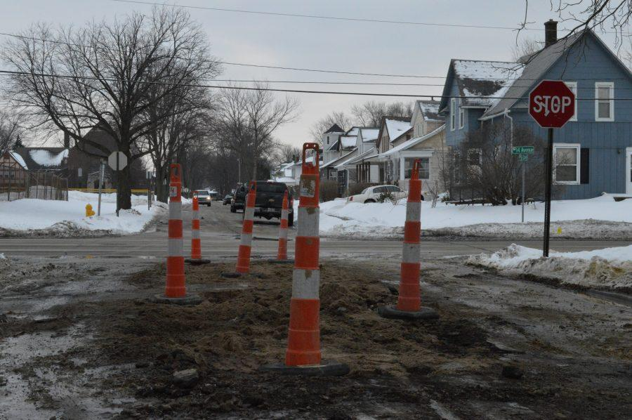 The+corner+of+7th+and+14th+Avenue+where+the+water+main+broke.+Photo+by+Ryan+Silvola.+