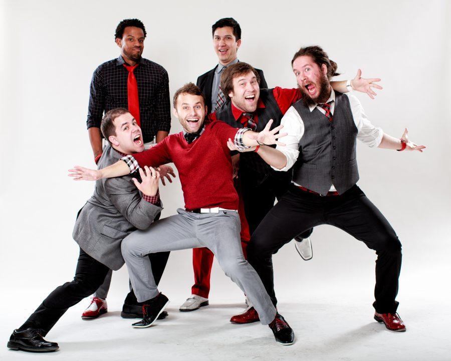 Six+appeal+members+Jordan+Roll%2C+Michael+Brookens%2C+Trey+Jones%2C+Nathan+Hickey%2C+Reuben+Hushagen+and+Andrew+Berkowitz+pose.%0APhotos+courtesy+of++Jordan+Roll.