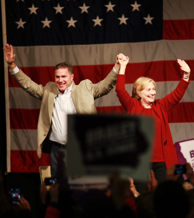 Clinton+speaks+for+Braley+campaign