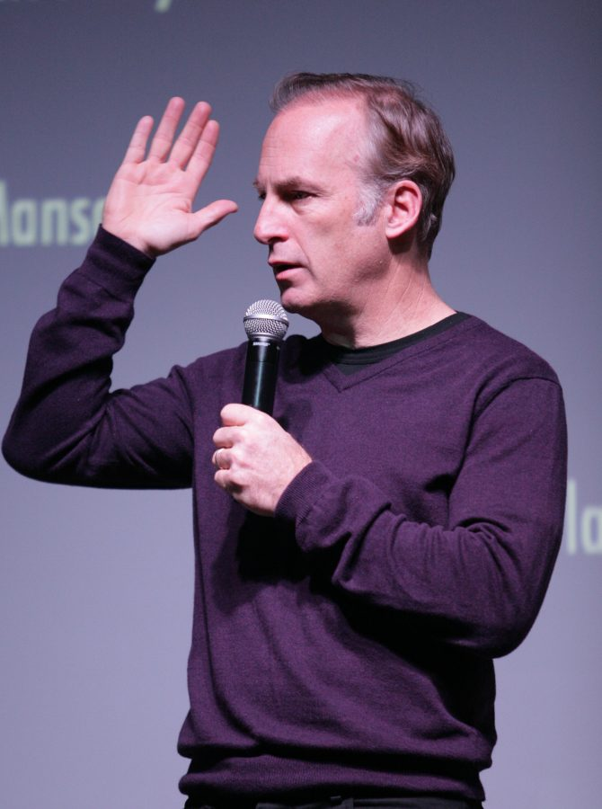 Actor+Bob+Odenkirk+performed+comedy+and+showed+clips+from+his+previous+work+on+Nov.+24.+He+also+spoke+candidly+about+working+in+Hollywood+and+his+rise+to+fame.%0APhoto+credit%3A+Hoang+Nguyen%2FObserver+Staff