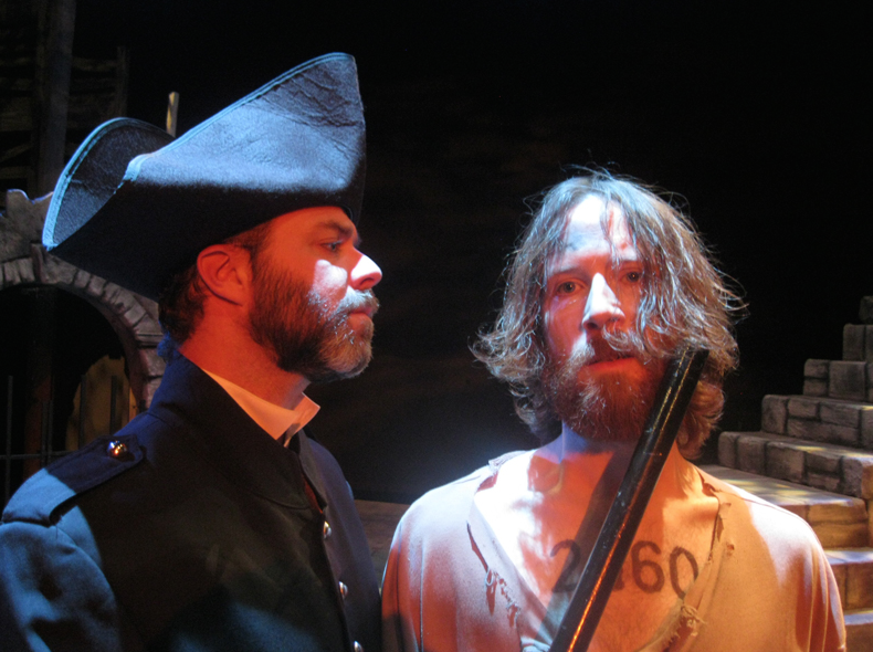 Javert and Jean Valjean,meet for the last time during Valjean's imprisonment. Photo provided by Brett Hitchcock.