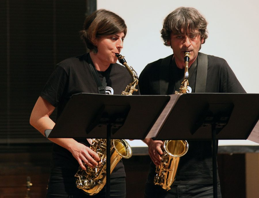 The+Spanish+duo+performed+contemporary+music+on+March+13+for+Augustana+students.%0APhoto+by+Linnea+Ritchie.
