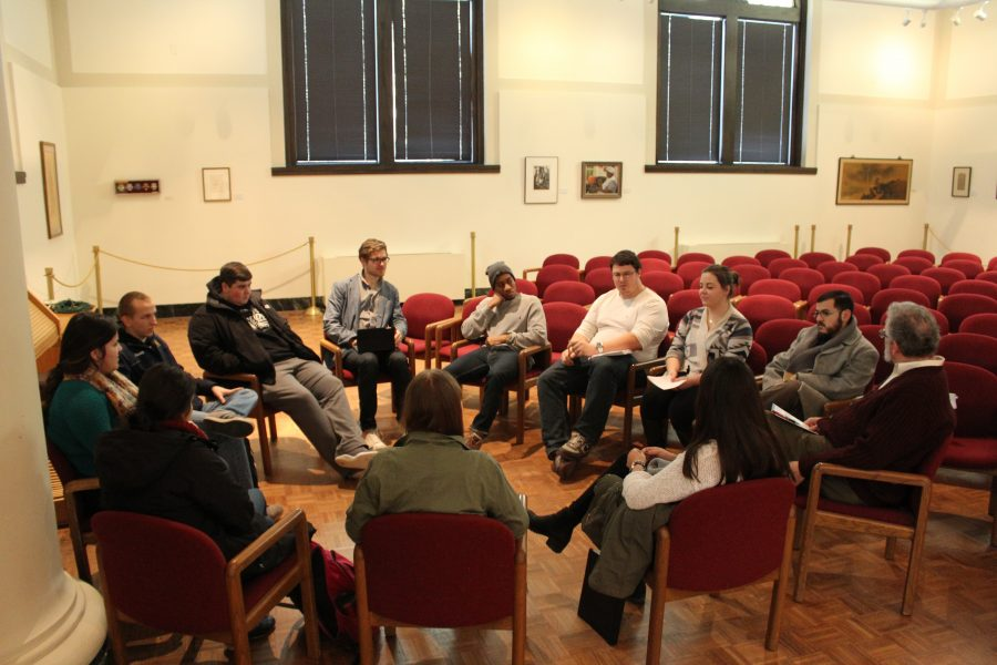 Students+and+faculty+discuss+the+the+Black+Lives+Matter+movement+in+Wallenberg+Hall+during+Augustana+Colleges+Winter+Term+Symposium+Day+session.+Photo+by+Kelsey+Cunningham.