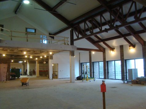 Photo courtesy of Augustana Facilities. Construction began in the College Center late last year. This a current image of the College Center's interior. Augustana has spent $4 million on this renovation.