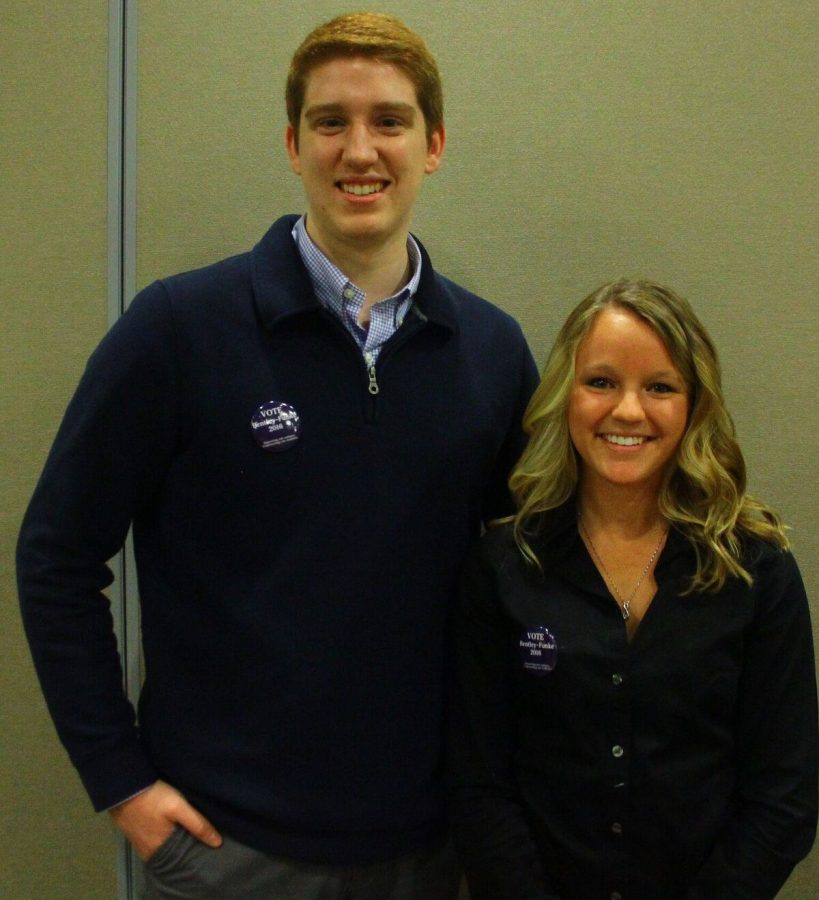 The+Augustana+Observer+endorses+Charlie+Bentley+and+Sarah+Funke.+The+pair+is+running+for+SGA+president+and+vice-president++for+the+2016-17+school+year.