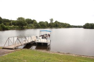 The Stewardship boat tour started and finished at Potter Lake. Photo by LuAnna Gerdemann.