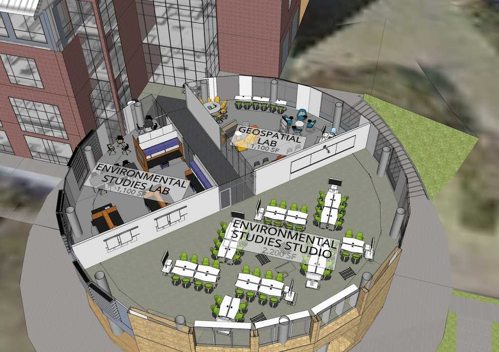 A conceptual design of the expansion of the Hanson Hall of Science. Photo provided by Augustana College.