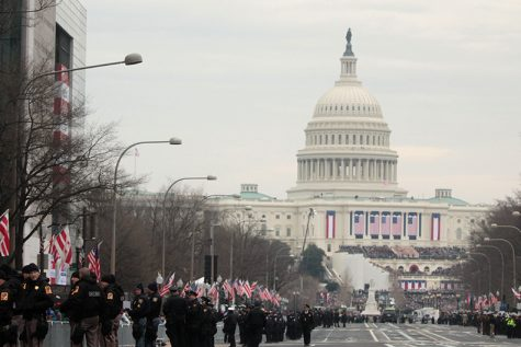 The Capitol is decorated in honor of the 58th Presidential Inauguration. Photo by Ryan Jenkins.