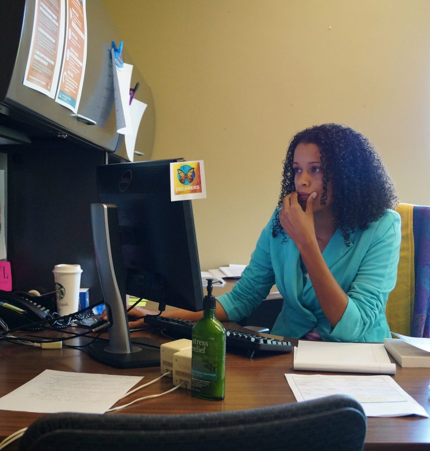 Brittany+Overstreet+works+in+her+office.%0APhoto+By+Natalie+Spahn