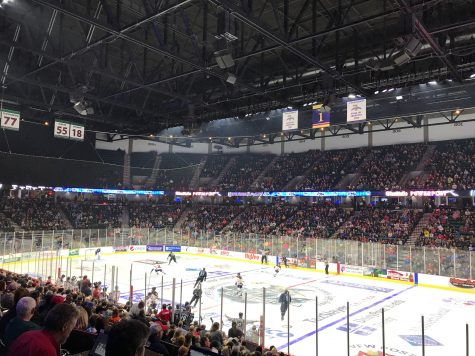 Photo Above: Quad City Storm welcomed over 6000 attendees for their first game on Saturday, Oct. 20. Photo by Madison Williams.