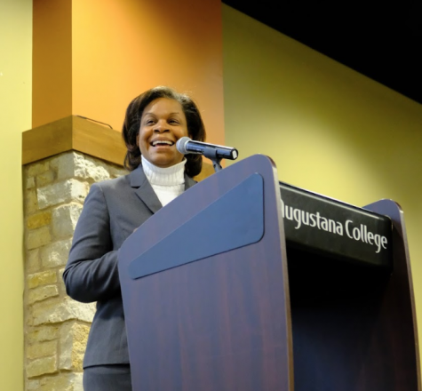Dr. Monica Smith delivers the keynote address on Monday, Jan. 21, 2019. Photo submitted by Mikaylo Kelly.