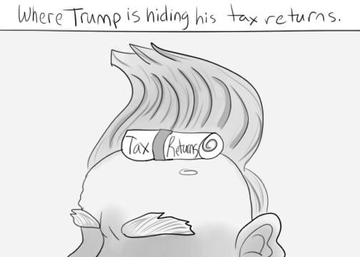Trumps Tax Returns Cartoon