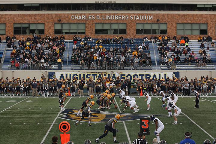 Augie ready to kick off against North Park University on Saturday. Augie won 71-0 at home.