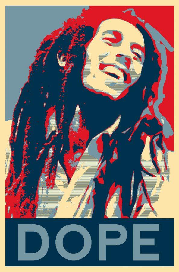 Marijuana edition: Bob Marley graphic