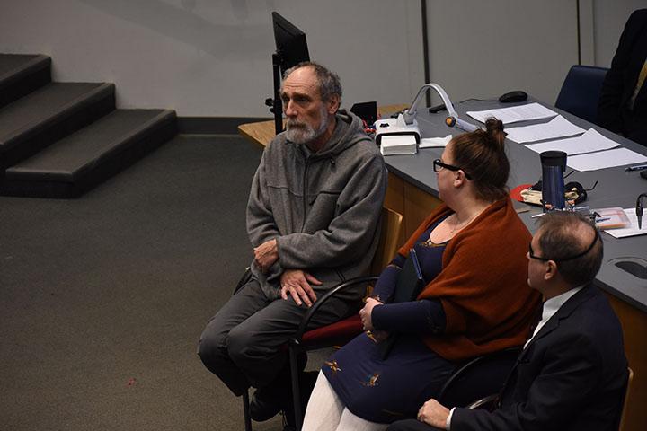 Dr. Lentil Calder (Right) speaks alongside Dr. Jasmine Noelle Yarish (Middle) and Dr. David Dehnel at the Impeachment Process Panel on October 29th, 2019.
