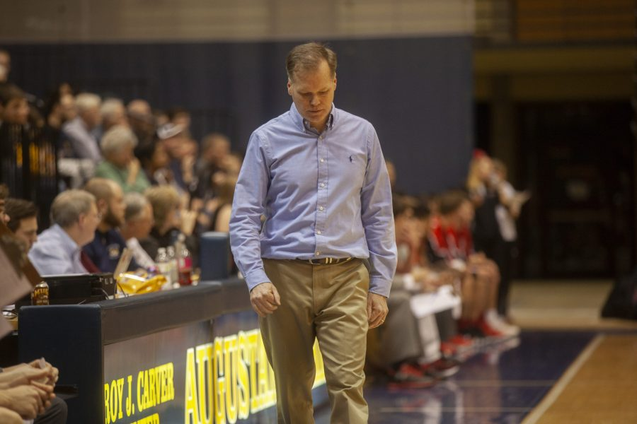 Coach Giovanine during a CCIW game in 2018. Photo by Kevin Donovan